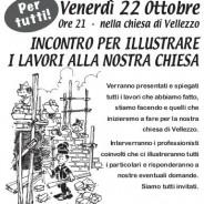 22 ottobre: lavori chiesa Vellezzo