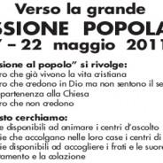 Verso la grande MISSIONE POPOLARE (7 – 22 maggio 2011)
