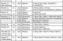 Calendario (Bollettino n. 133/2017)