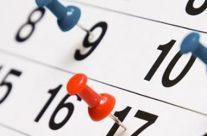 Calendario (Bollettino n. 143/2018)