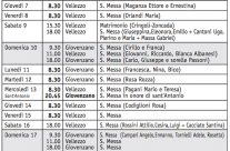 Calendario (Bollettino n. 139/2018)