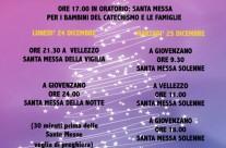 Celebrazioni natalizie 2018