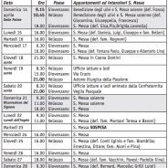 Calendario (Bollettino n. 146/2019)