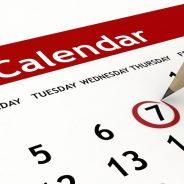 Calendario (Bollettino n. 145/2019)
