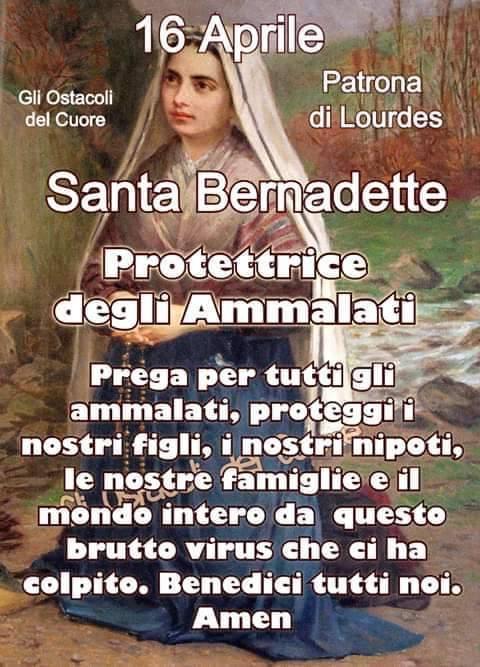 Santa Bernadette protettrice degli ammalati