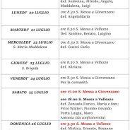 Calendario liturgico dal 19 al 26 luglio 2020